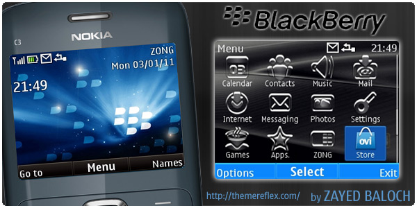 BlackBerry C3 Theme by ZayedBaloch Download Tema Nokia C3 Gratis