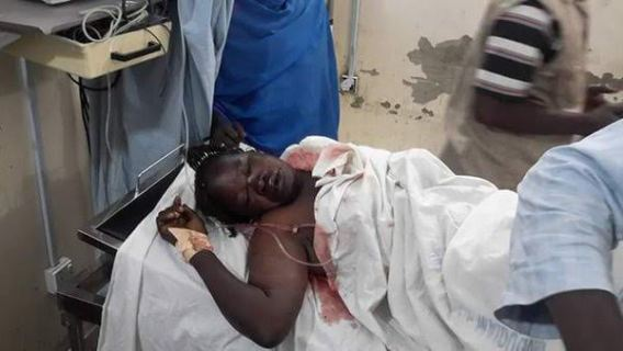 Victims of Dalori attack pictured receiving medical care