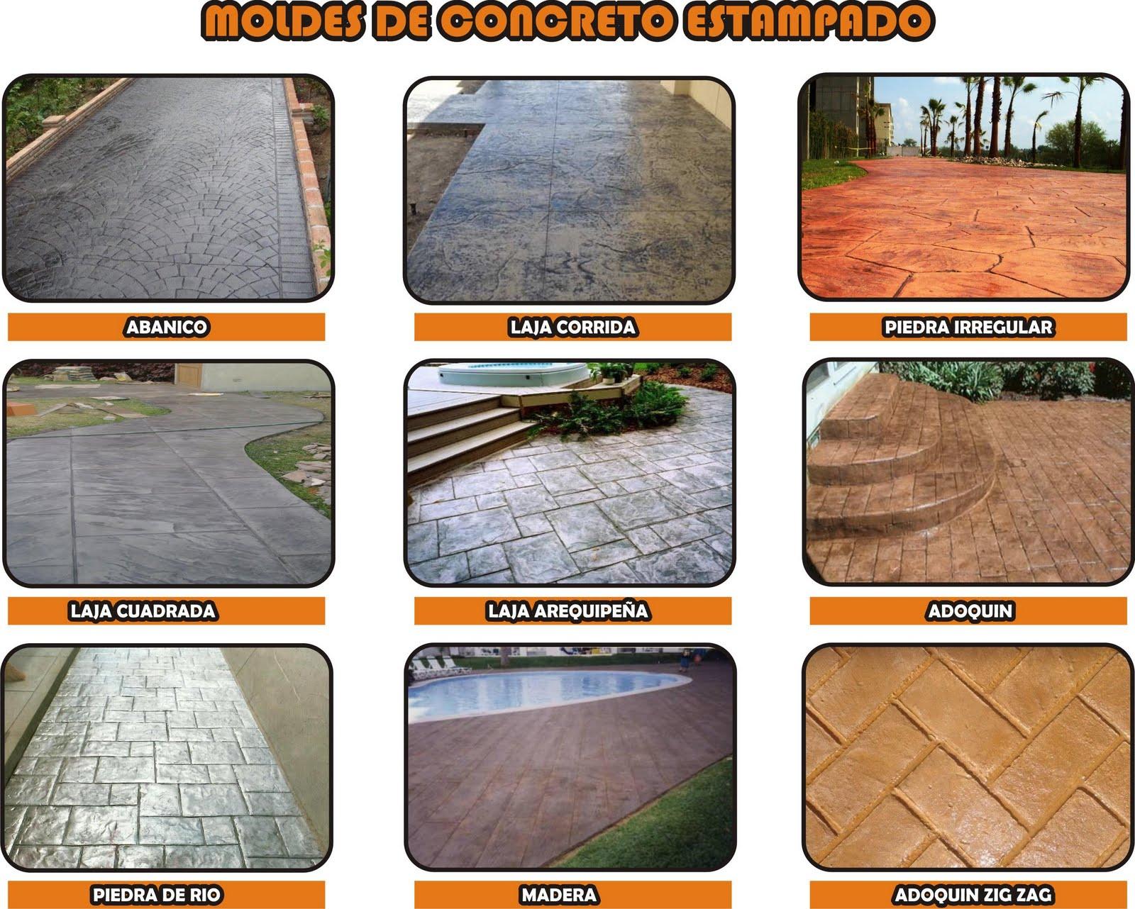 Concreto estampado moldes para concreto estampado - Moldes de cemento ...