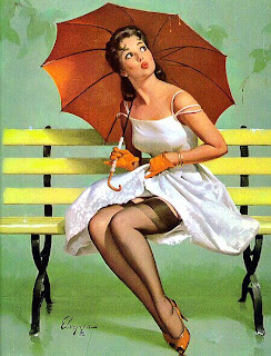 It might rain Elvgren pinup girls
