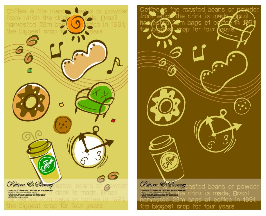 愛らしいデザインの背景 Lovely background series イラスト素材