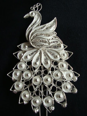 Silver Filigree Broach