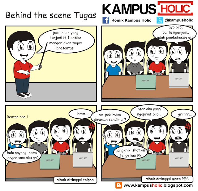 #071 Behind the scene Tugas mahasiswa