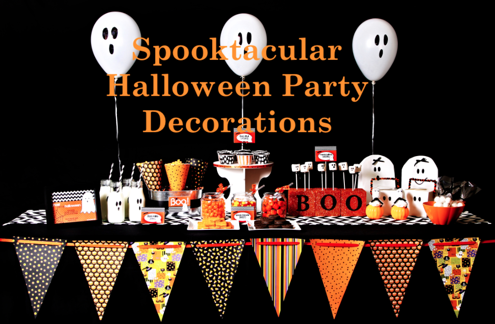 Super Easy Spooktacular DIY Halloween Party Decorations - First ...