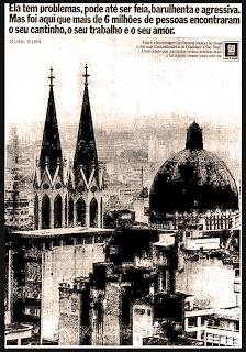propaganda General Motors sobre aniversário de São Paulo - 1974.anos 70.  1974. década de 70. os anos 70; propaganda na década de 70; Brazil in the 70s, história anos 70; Oswaldo Hernandez;