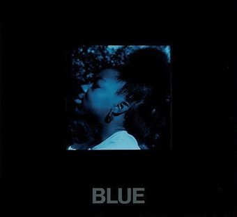 Carrie Mae Weems, blue detail from Moody Blue Girl, 1988