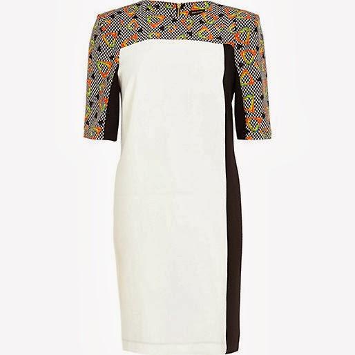 river island colour block dress