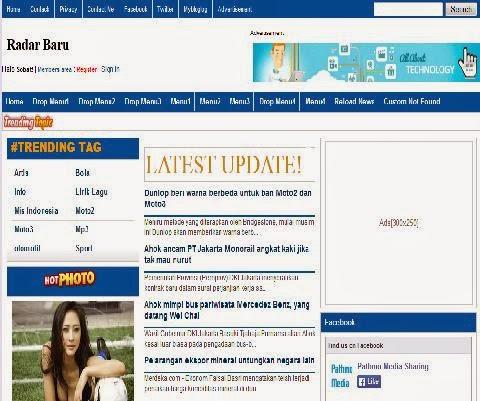 Radar News Blogger Template