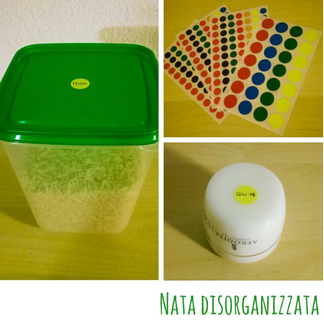 organizzare con i pallini adesivi