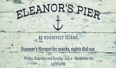 Come Visit Eleanor's Pier Weekends On Roosevelt Island Waterfront