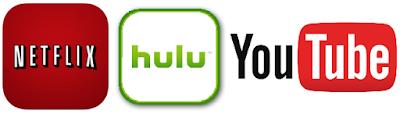 netflix.com hulu.com youtube.com