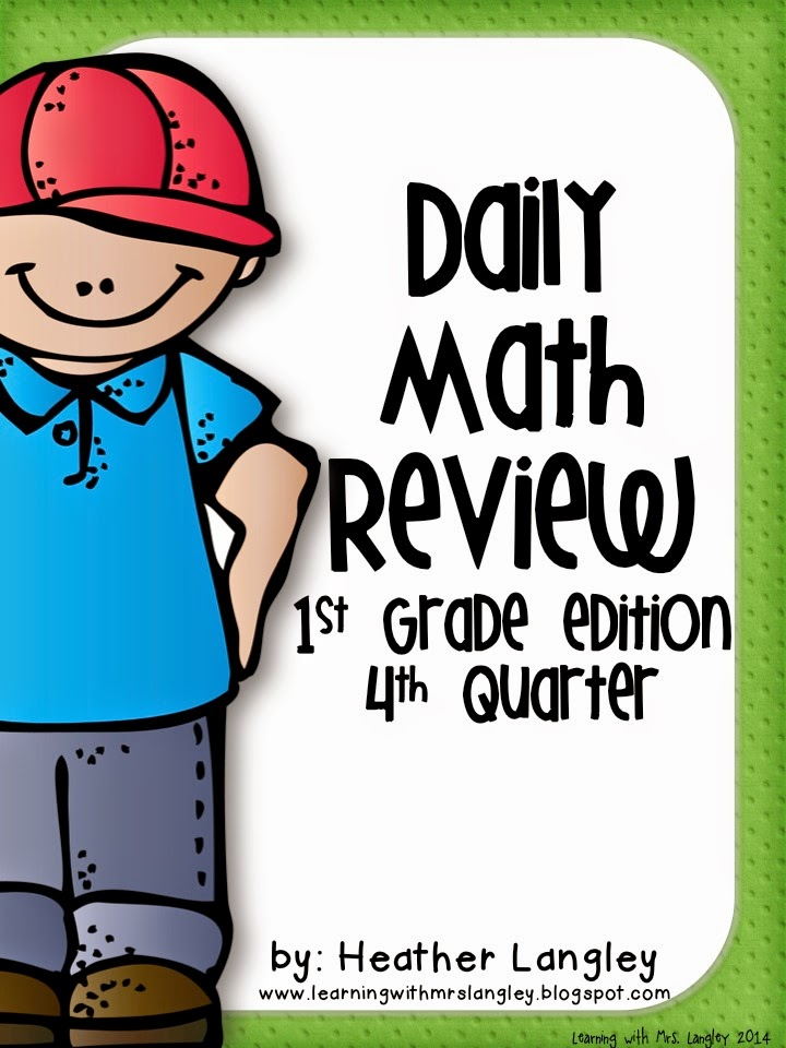 http://www.teacherspayteachers.com/Product/Daily-Math-Review-1st-Grade-Quarter-4-1264810