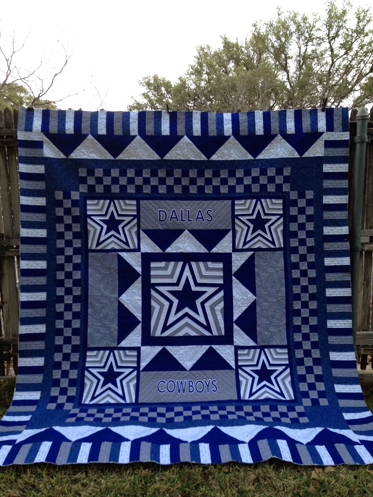 Dallas Cowboys Quilting Eye Candy | The Quilting Queen Online : cowboy quilt pattern - Adamdwight.com