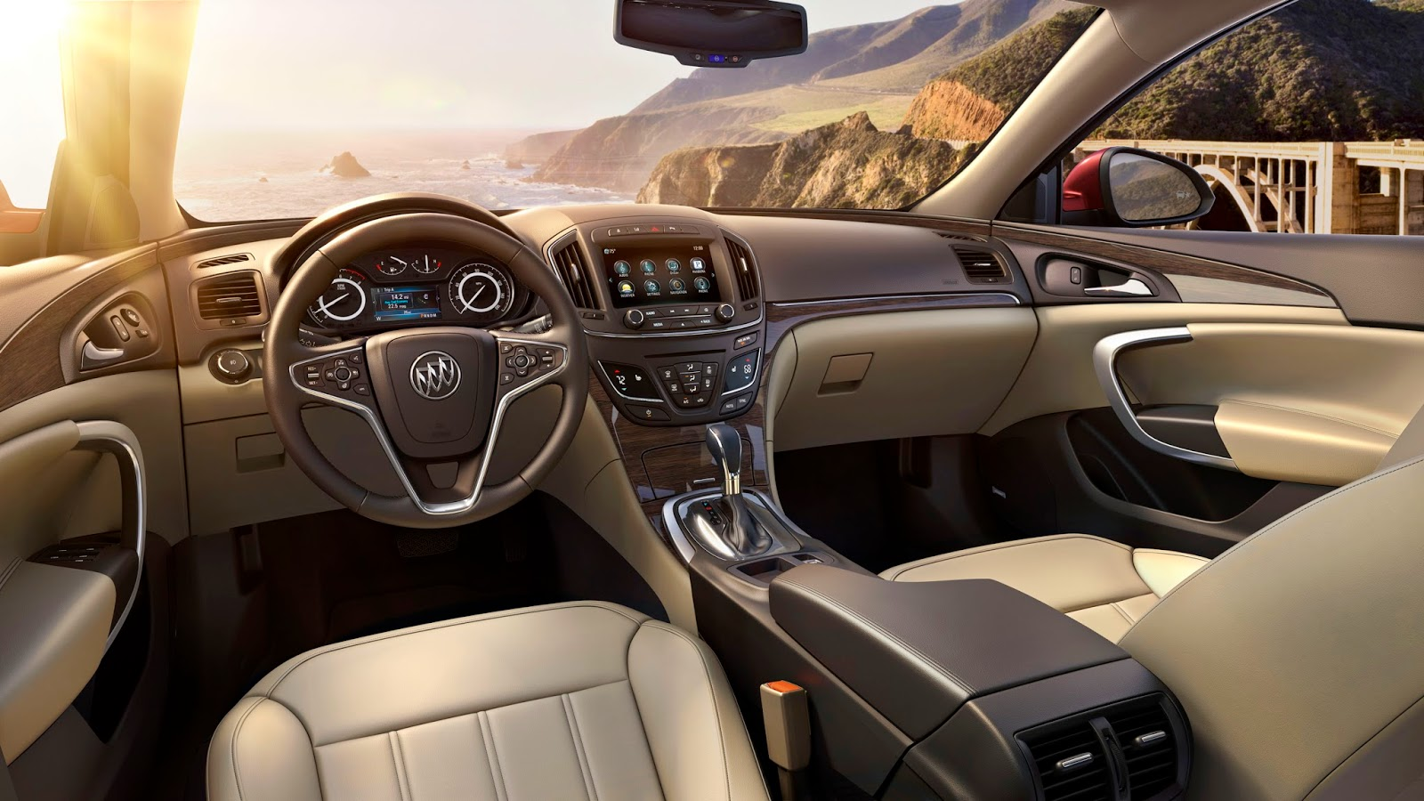 Interior view of 2015 Buick Regal