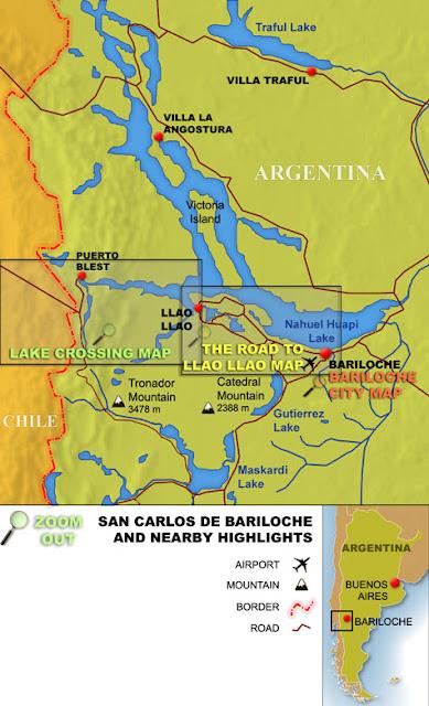 Mapa Bariloche Politico