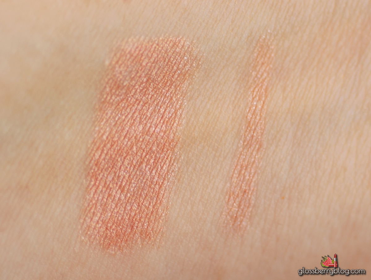 Bourjois - Colorband 2-in-1 Eyeshadow and Liner - Rose Fauviste review swatches עפרון צללית ורוד זהב בורז'ואה glossberry גלוסברי בלוג איפור וטיפוח rose gold recommendations