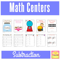 First Grade Math Centers - SUBTRACTION