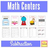 First Grade Math Centers - SUBTRACTION