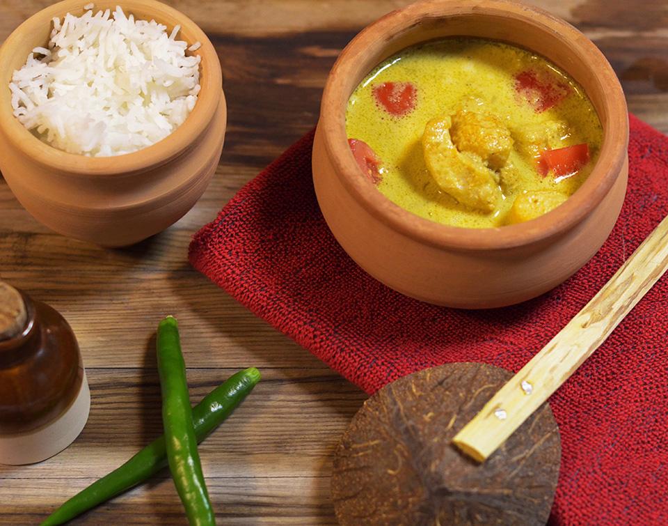 Goan fish caldine in a coconut curry