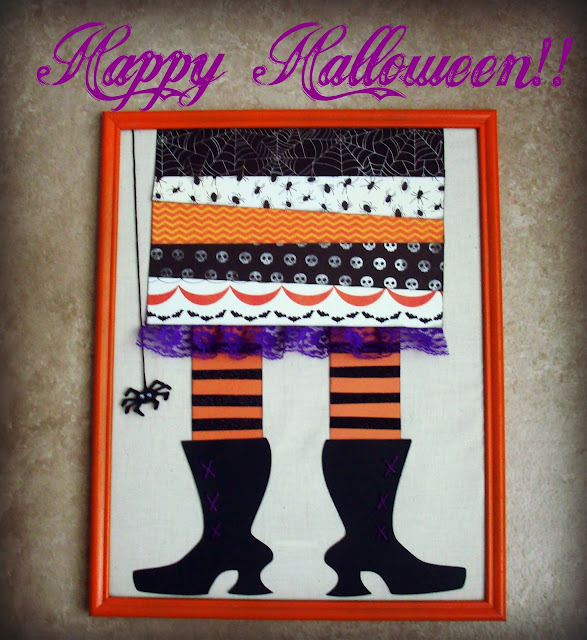 Framed Witch Feet Halloween decor #Halloween #witch #Thirtyone @americancrafts