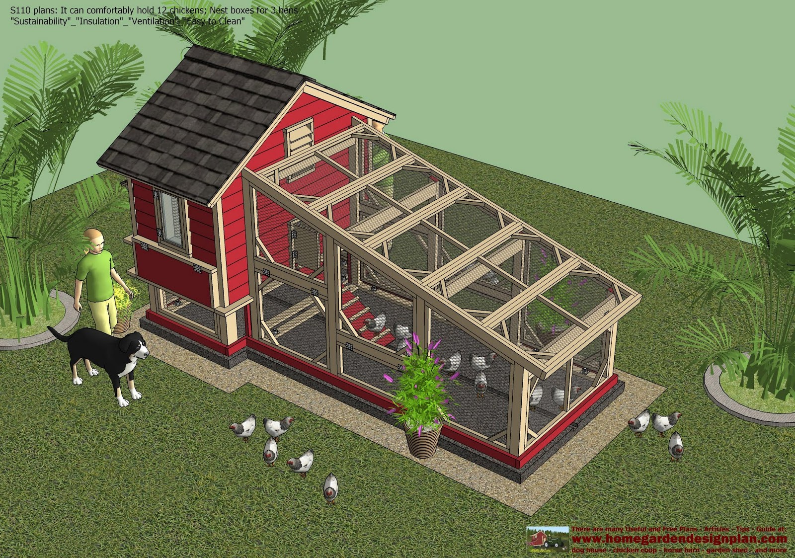 Sntila s110 chicken coop plans construction chicken coop for How to build a chicken hutch