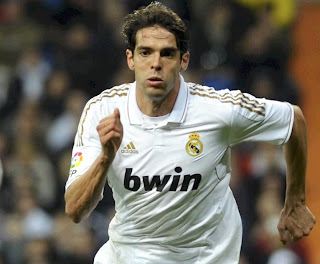 Ricardo Kaka playing for Real Madrid at Bernabeu stadium