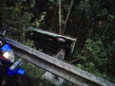 Kecelakaan Bus Maju Lancar di Bukit Bintang, Pathuk