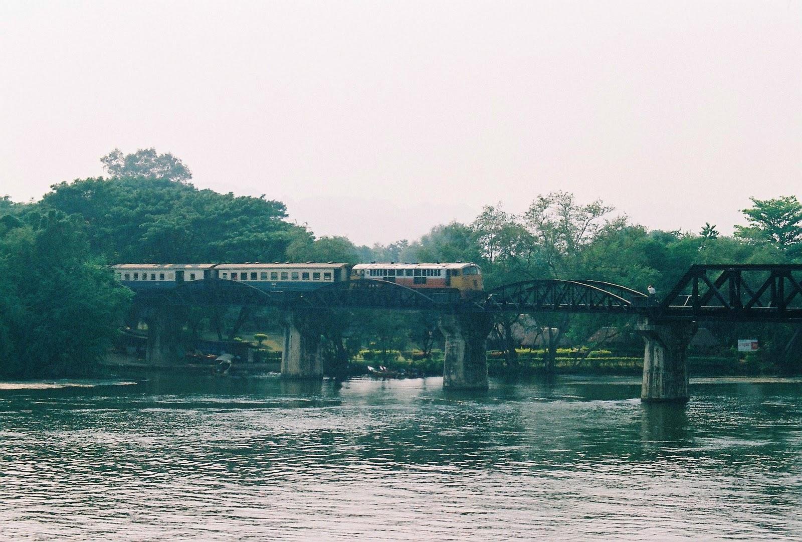 Beyond the bridge over the river Kwai in Kanchanaburi