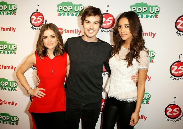 Lucy Hale, Tyler Blackburn, Shay Mitchell at ABC Family Winter Wonderland