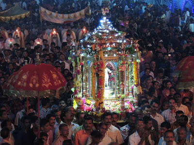 St.Sebastian Athirampuzha on Jan.24 Night Procession