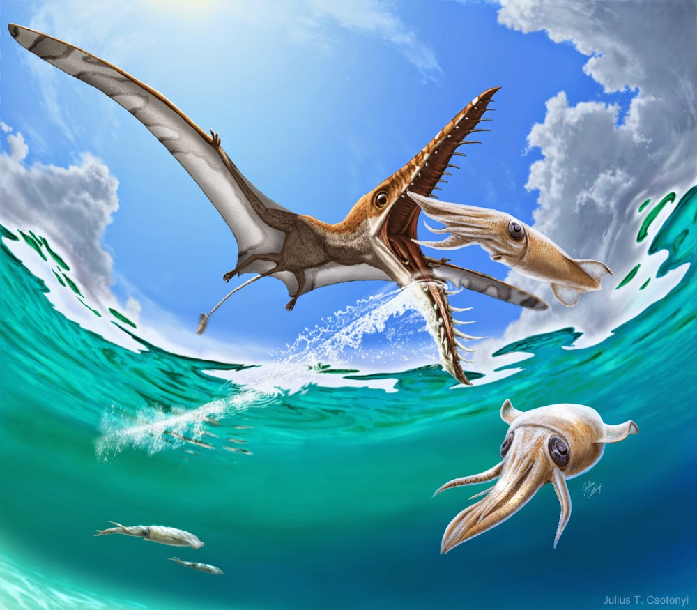 Cabelkawan dinosaures par julius csotonyi - Dinosaure marin carnivore ...