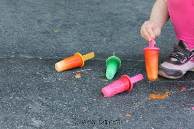 Frozen Popsicle Chalk - Reading Confetti