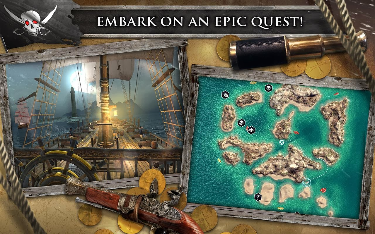 Assassin's Creed Pirates 1.2.0 Apk+Data Mod Unlimited Money