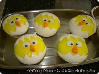 Cupcake pintinhos de páscoa
