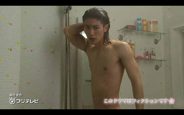 Last Cinderella - Semi nude shower shot of Hiroto.