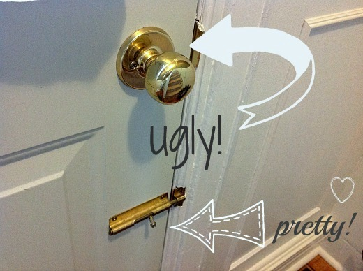 how to clean fake brass door knobs