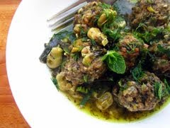 Meatballs with Broad beans and lemon