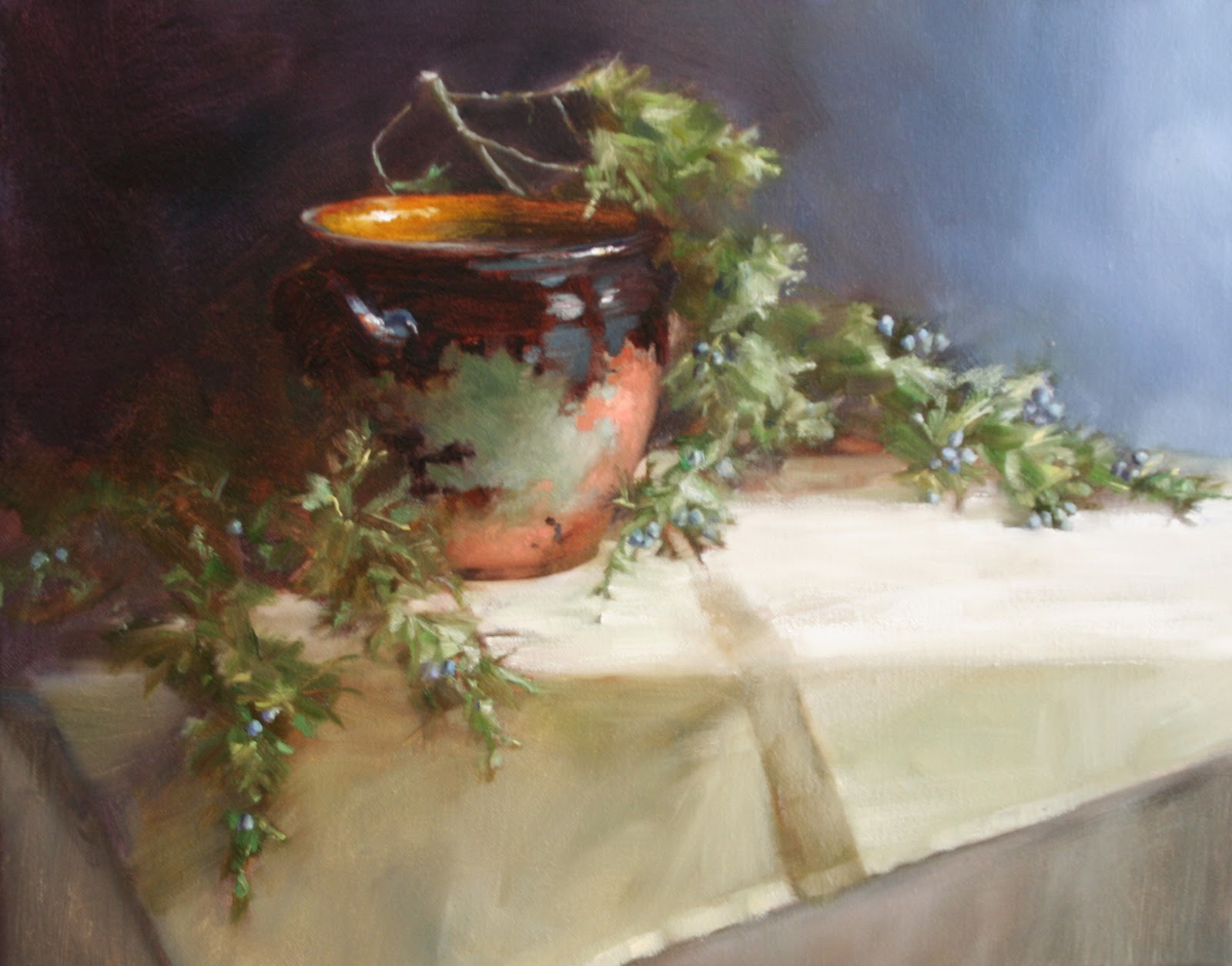 Agile arts atelier cedrus amplexu new for Oil painting lessons near me