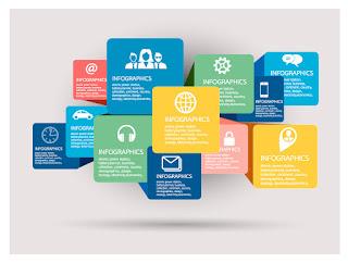 立体的なプレートのインフォグラフィックス テンプレート Infographic template イラスト素材