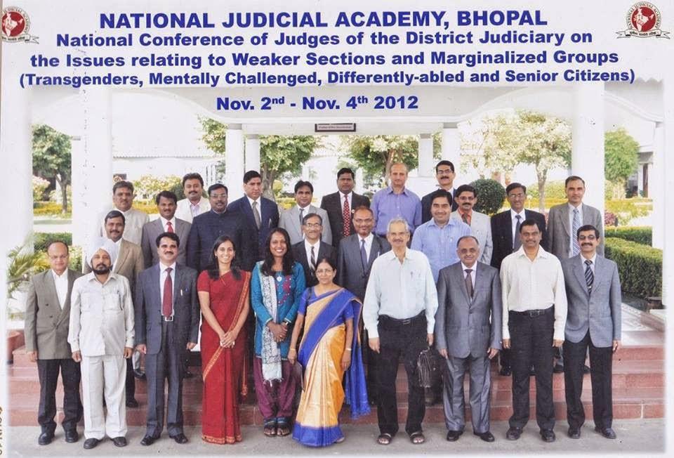 Kalki Subramaniam with the Judges at National Judicial Academy