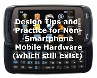 Feature phones still take up a major portion of global cell markets, you'd be foolish to overlook them.