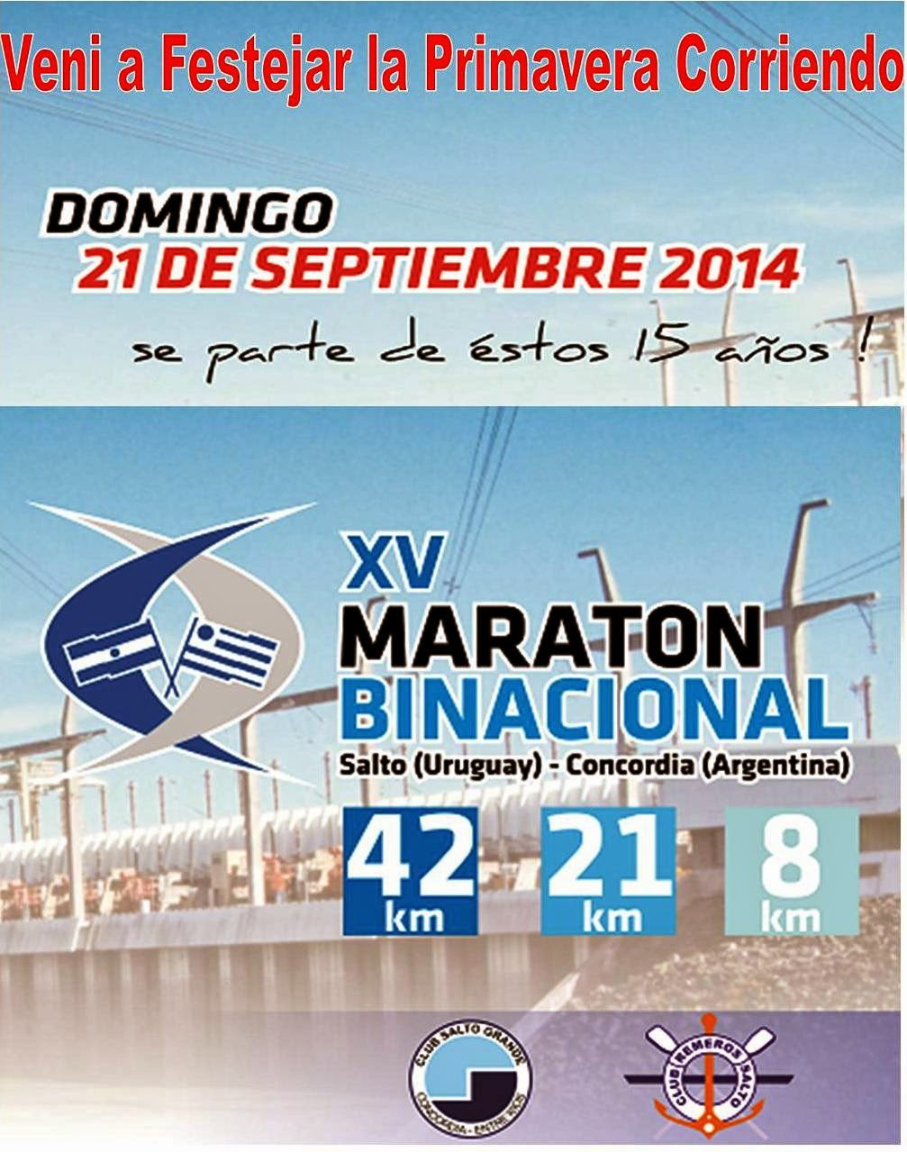 15º MARATON BINACIONAL-2014