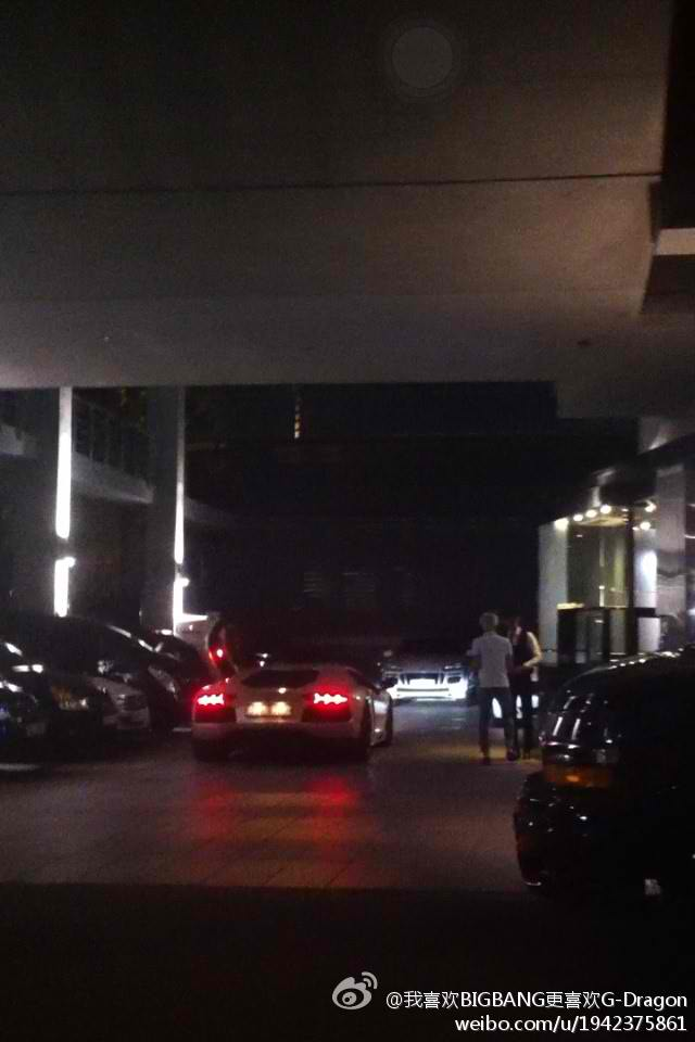 Kpop Big Bang S G Dragon S Lamborghini Spotted At Yg