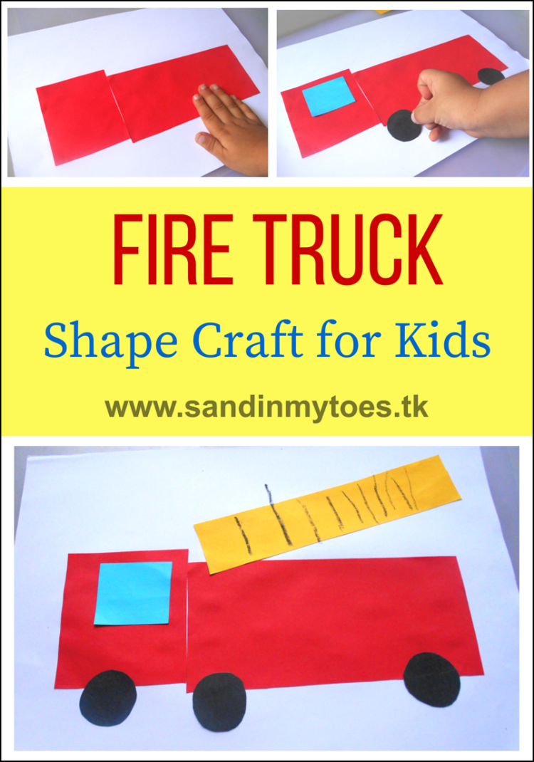 Busy Hands Fire Truck Shape Craft Sand In My Toes
