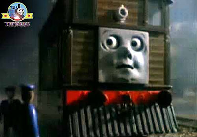 Toby tram engine don't believe Halloween fairy-tale a silly train Thomas and the ghost engine story!