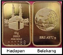 SRI AYU GOLD BAR 999.9