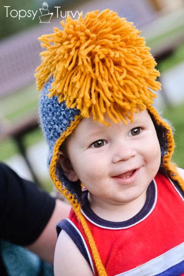 Tangled Happy Crochet Faux Hawk Mohawk