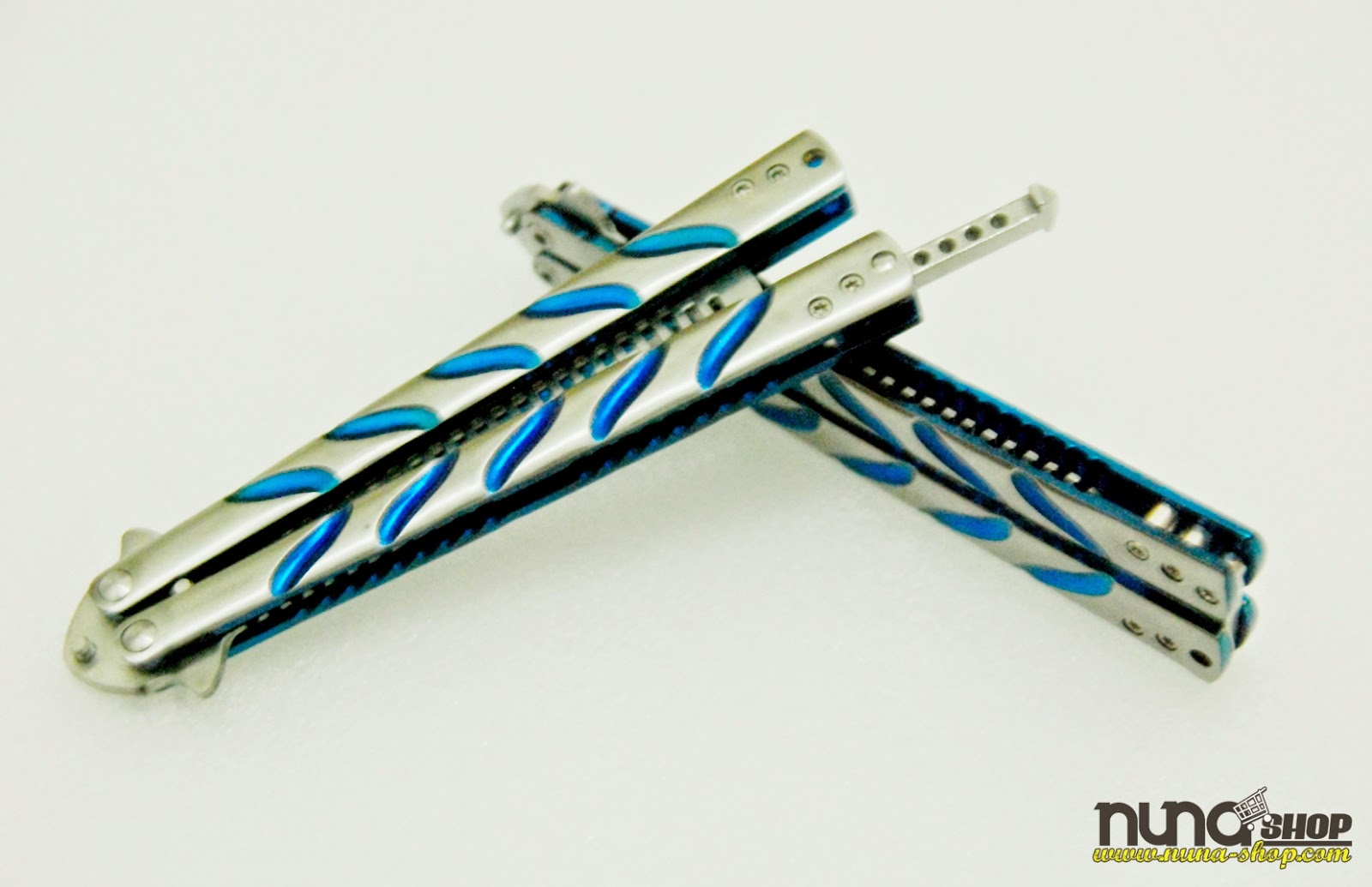 Balisong Butterfly Comb - Sisir MTech Silver Blue