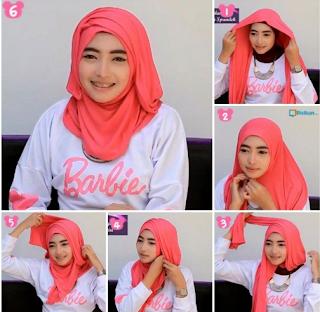 Model Hijab Pashmina Kaos