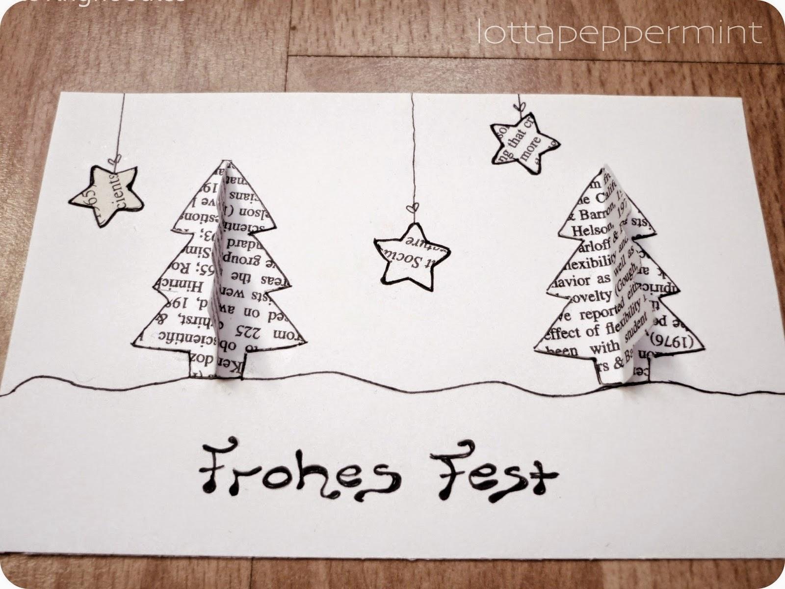 lottapeppermint diy weihnachtskarten aus alten studienunterlagen. Black Bedroom Furniture Sets. Home Design Ideas